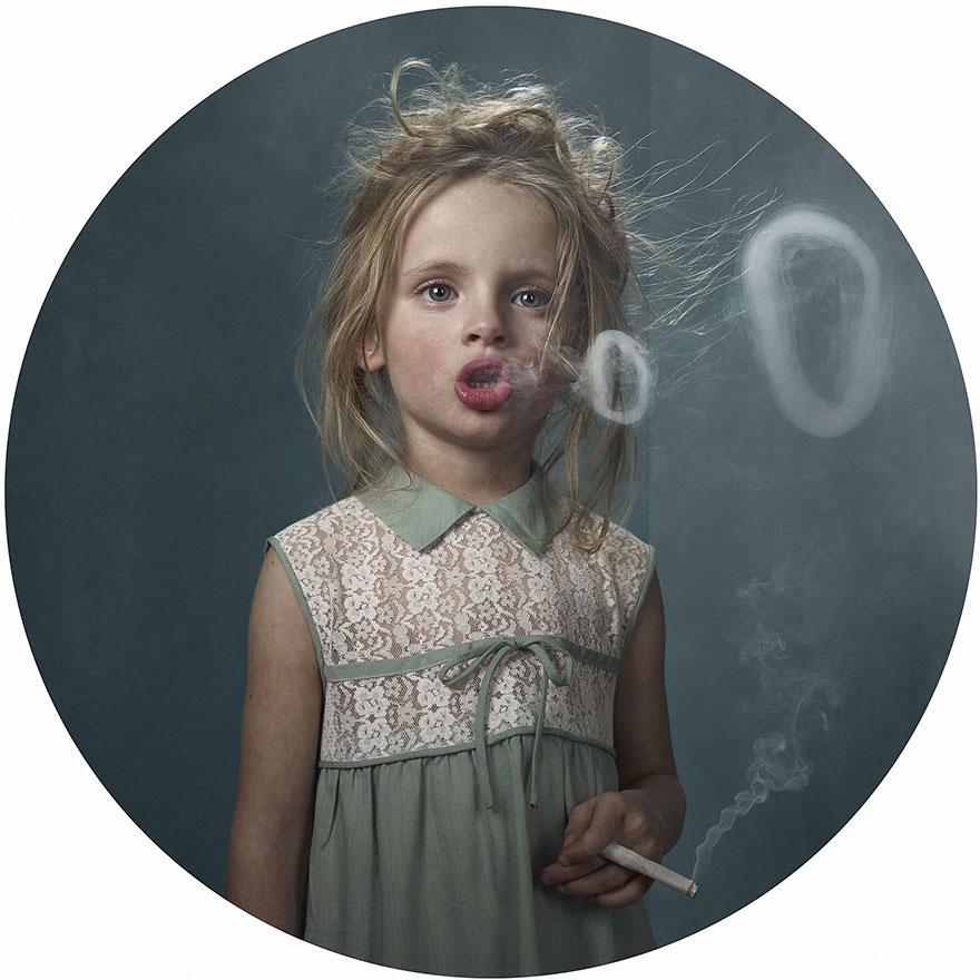 Sigara İçen Çocuklar - Photoshop
