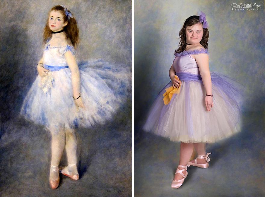 Down Sendromlu Çocuklar Ünlü Tabloları Canlandırdı