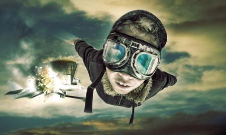parasut-ucak-pilot-atlamak-manupilasyon
